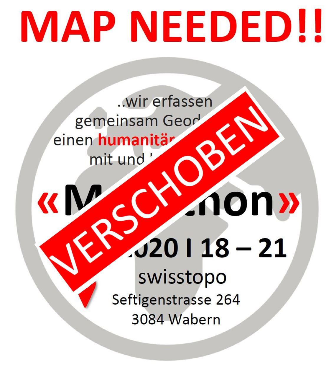 Mapathon Verschoben